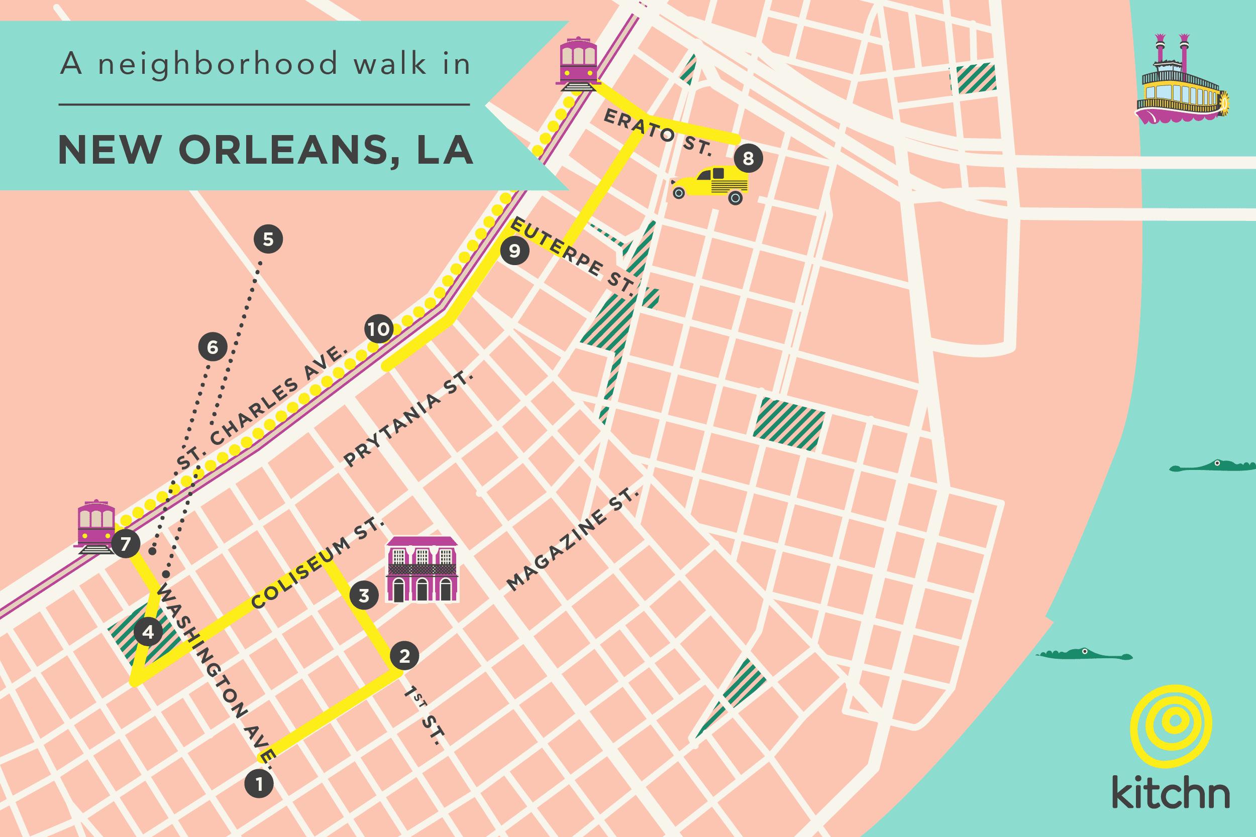 map garden district new orleans A Neighborhood Walk In New Orleans The Garden District Kitchn map garden district new orleans