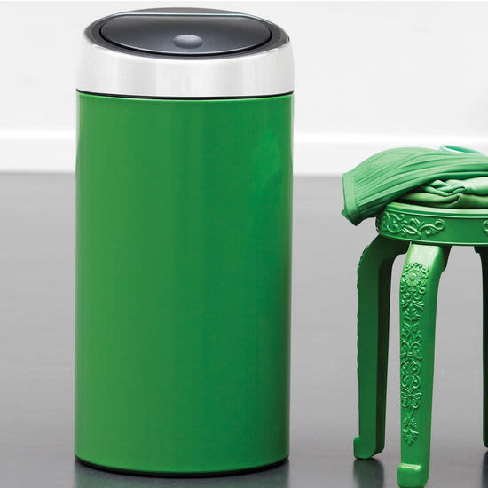 Beyond Stainless Steel Colorful Kitchen Trash Cans From