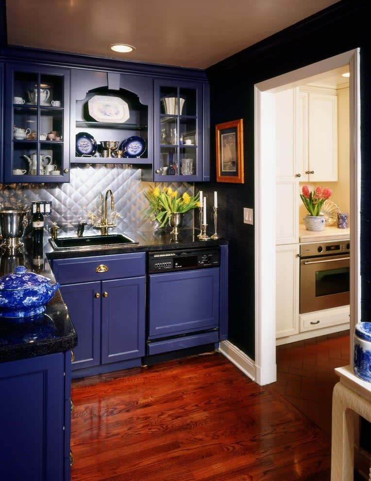 Look We Love: 10 Kitchens with Blue Cabinets | Kitchn