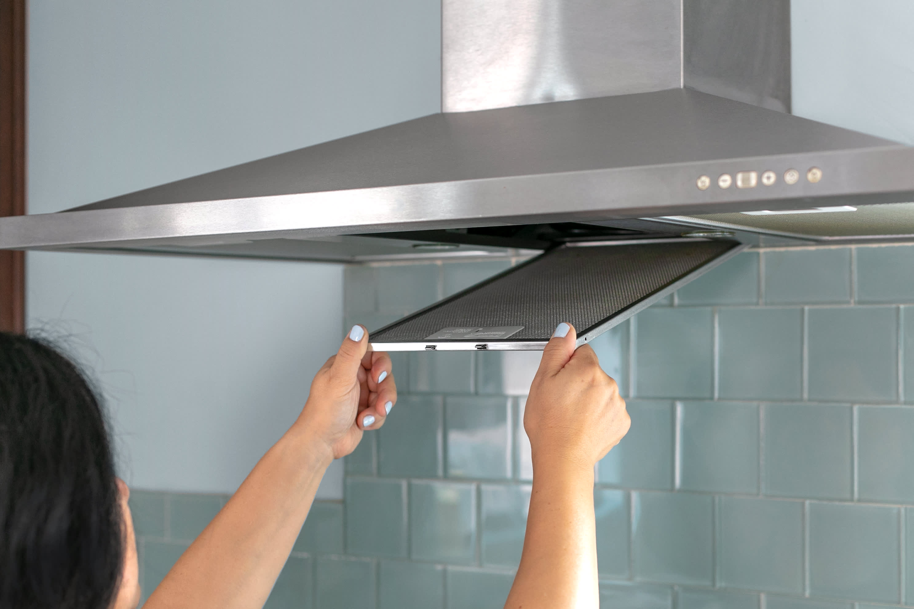 how to remove grease from stove hood