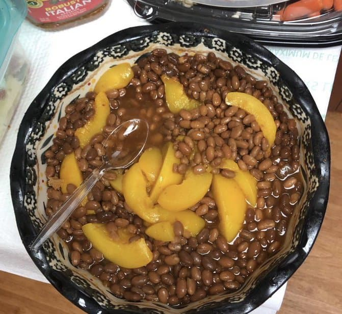 Bean and Peach 'Salad' Sparks Internet Outrage