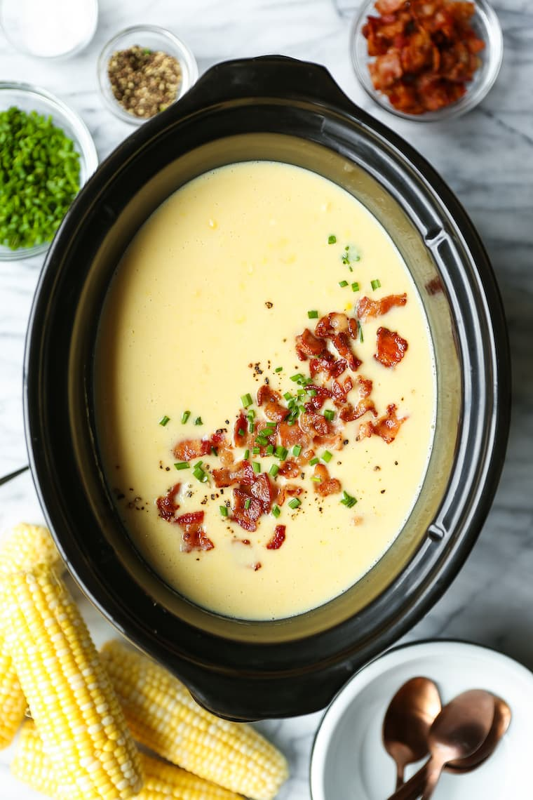 This Slow Cooker Corn Chowder Is a Creamy, Dreamy Wonderland
