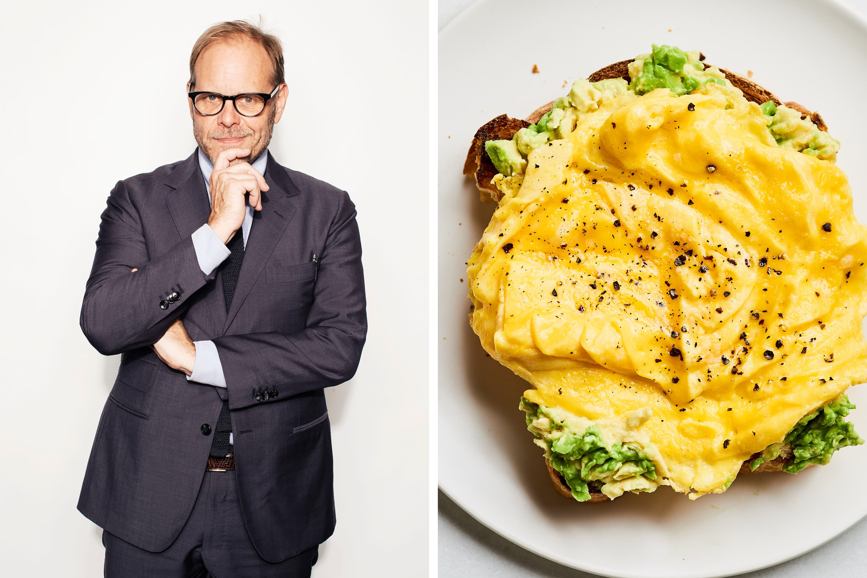 Alton Brown's Secret to Better Scrambled Eggs Might Surprise You