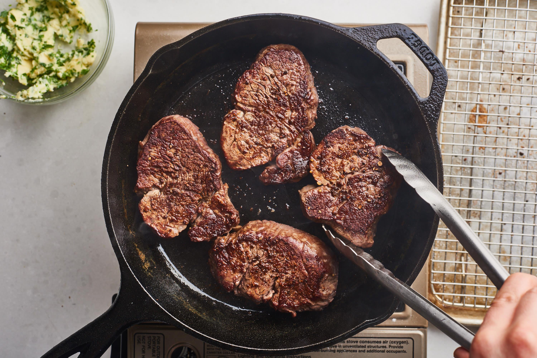 Oil Frying Pan Steak
