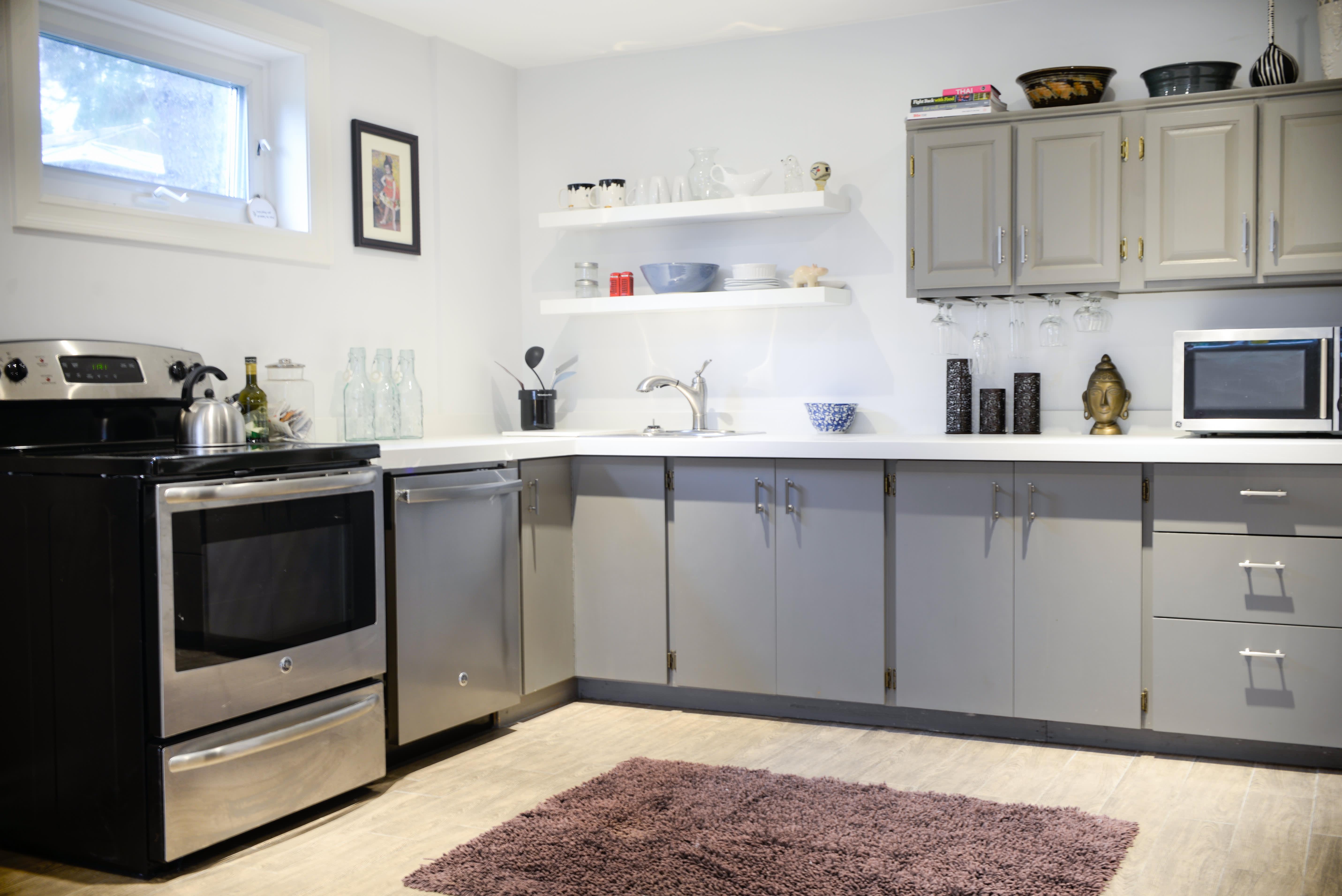 House Tour A Small Minimal Basement Studio Apartment Apartment Therapy