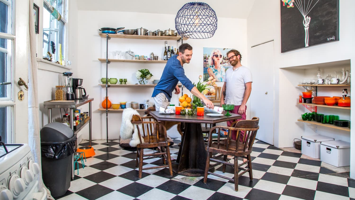 Work It Classic Black White Checkered Kitchen Floors Looking Fantastic Apartment Therapy
