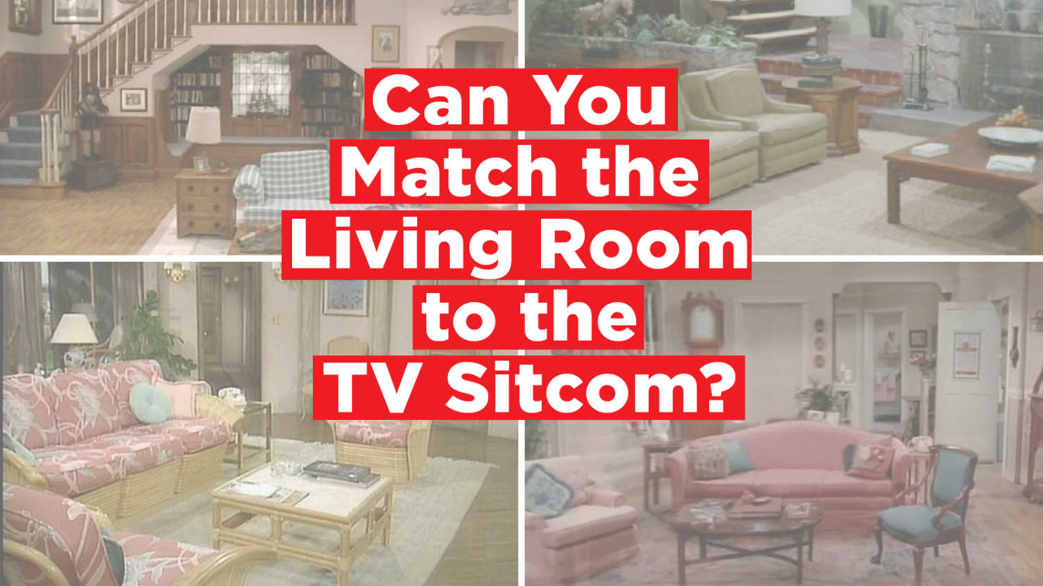 Quiz: Match the Famous Living Room to the TV Sitcom  Apartment