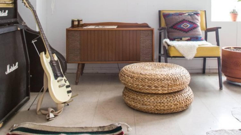 Versatile Style Spotting Ikea S Woven Pouf Alseda Everywhere Apartment Therapy