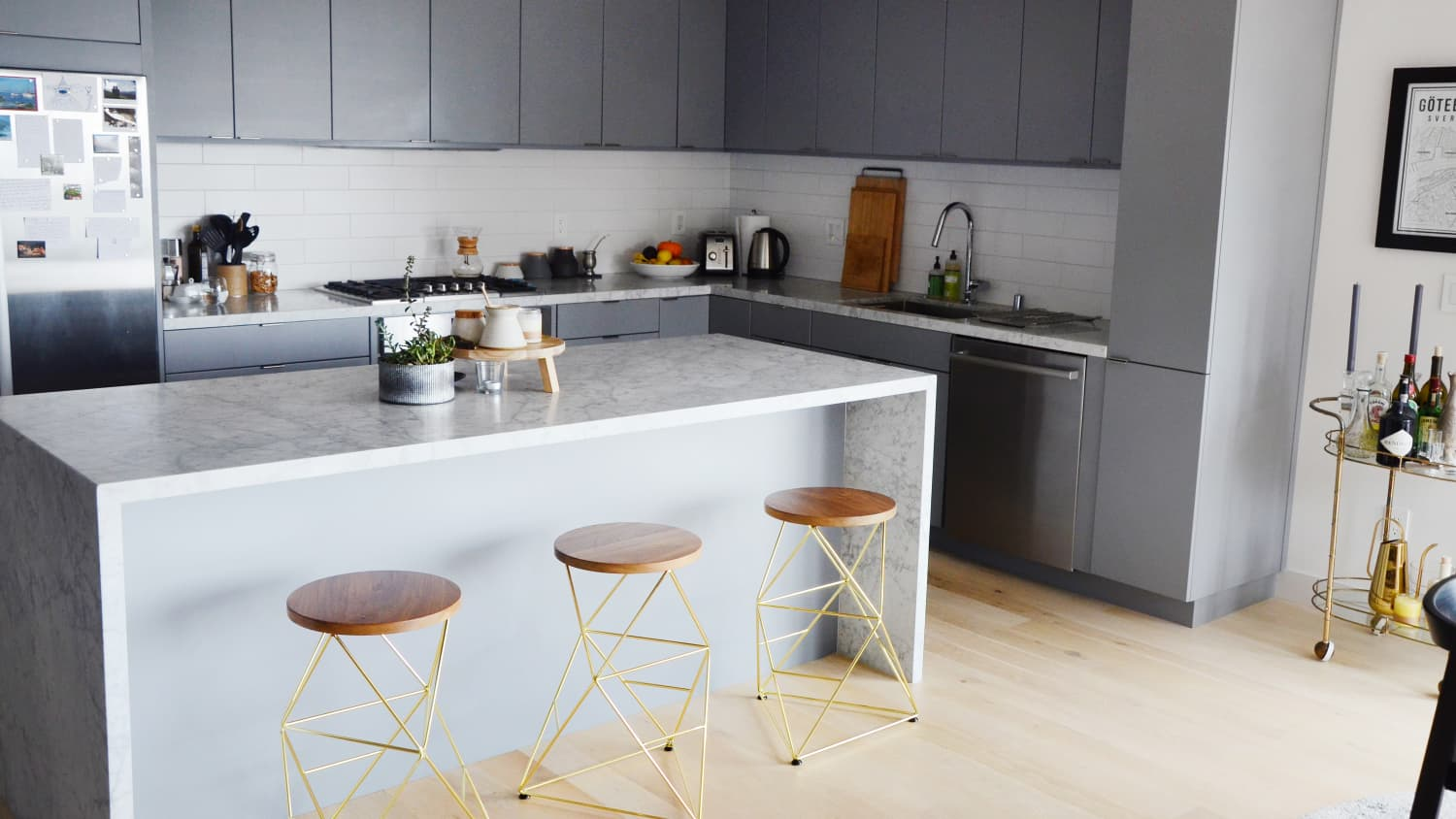 Easy On The Eyes 5 Gray Cream Kitchens And The Perfect Off White Paint Color Kitchn