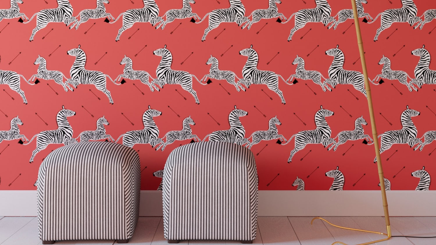 Royal Tenenbaums Zebra Wallpaper Peel-and-Stick Scalamandre ...
