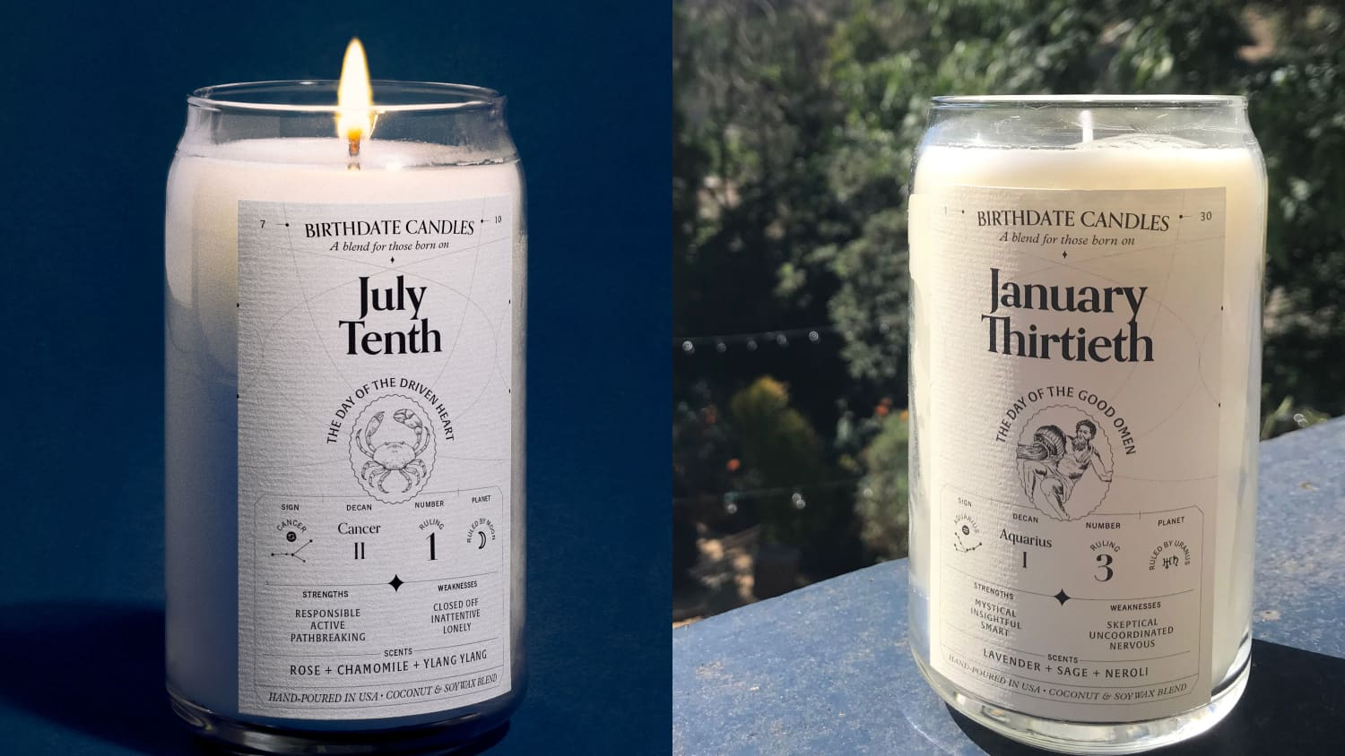 Astrology Horoscope Zodiac Sign Candles | Apartment Therapy