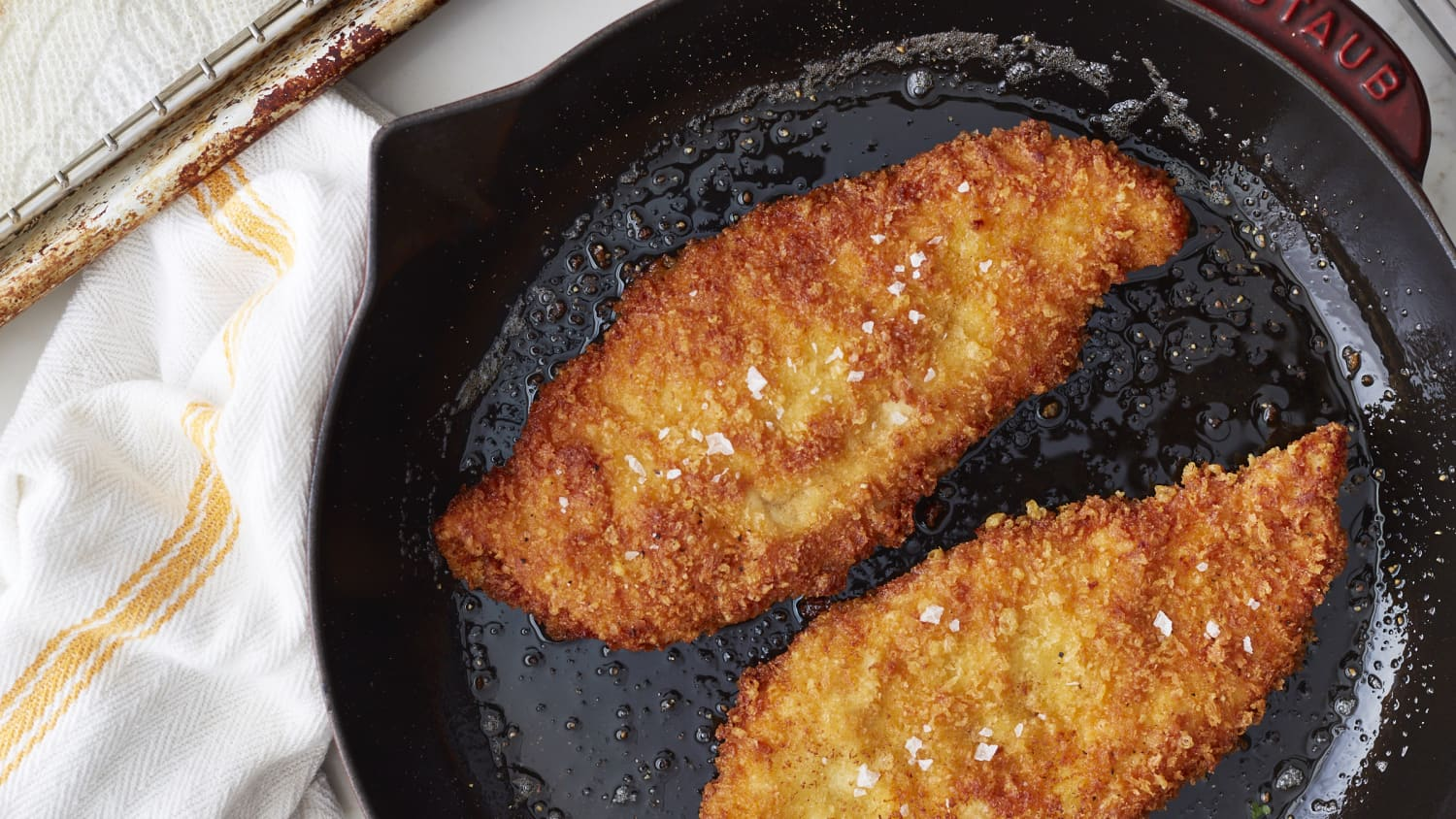 One Pan Crispy Parmesan Chicken Cutlets Recipe Kitchn