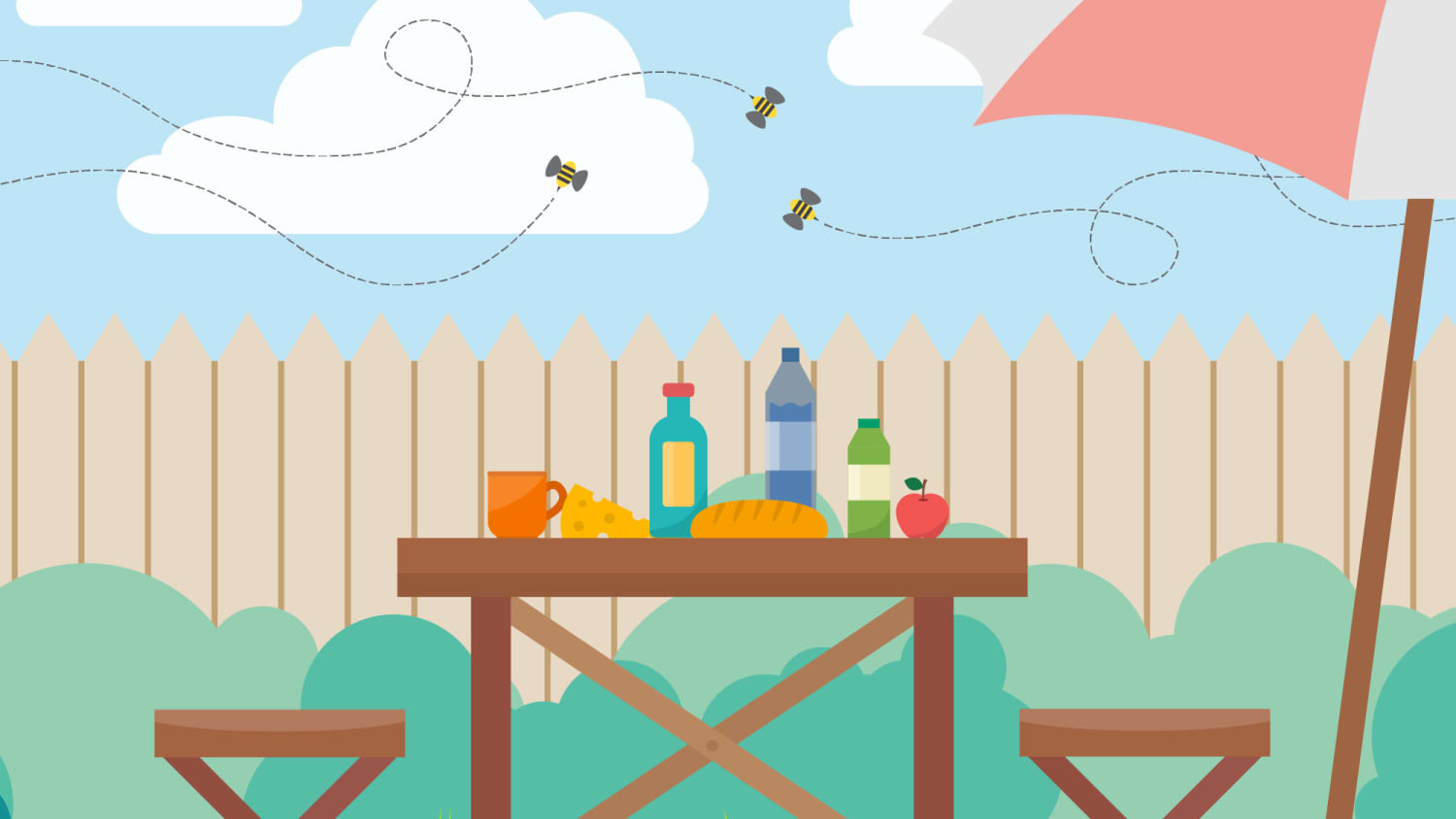5 Ways To Keep Bees Away When Dining Outside Kitchn