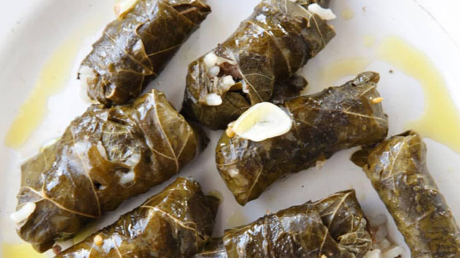 How To Make Stuffed Grape Leaves Dolmades Kitchn