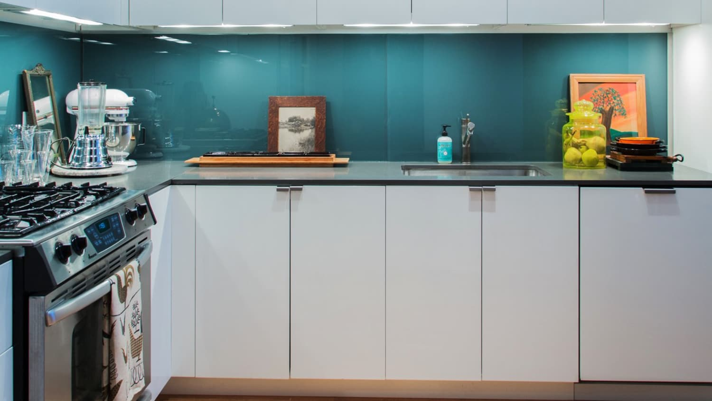 - Glass Kitchen Backsplash Ideas - Tile Alternative Apartment Therapy