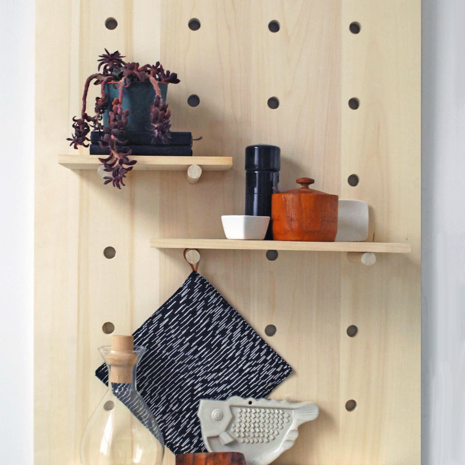 Diy Project Idea How To Make A Modern Pegboard Shelving System Apartment Therapy