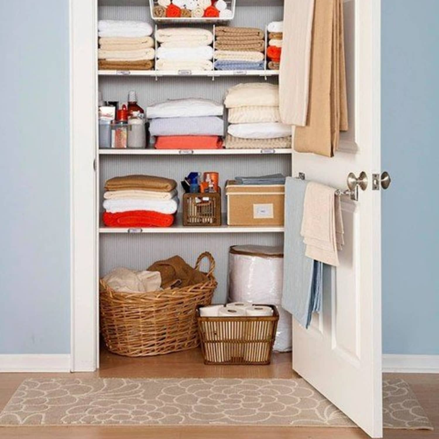 6 Ways To Get More Space Out Of A Tiny Linen Closet Apartment Therapy