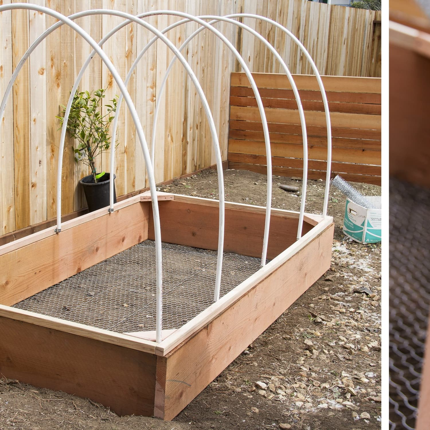 Diy Covered Greenhouse Garden A Removable Cover Solution To Protect Your Plants Apartment Therapy