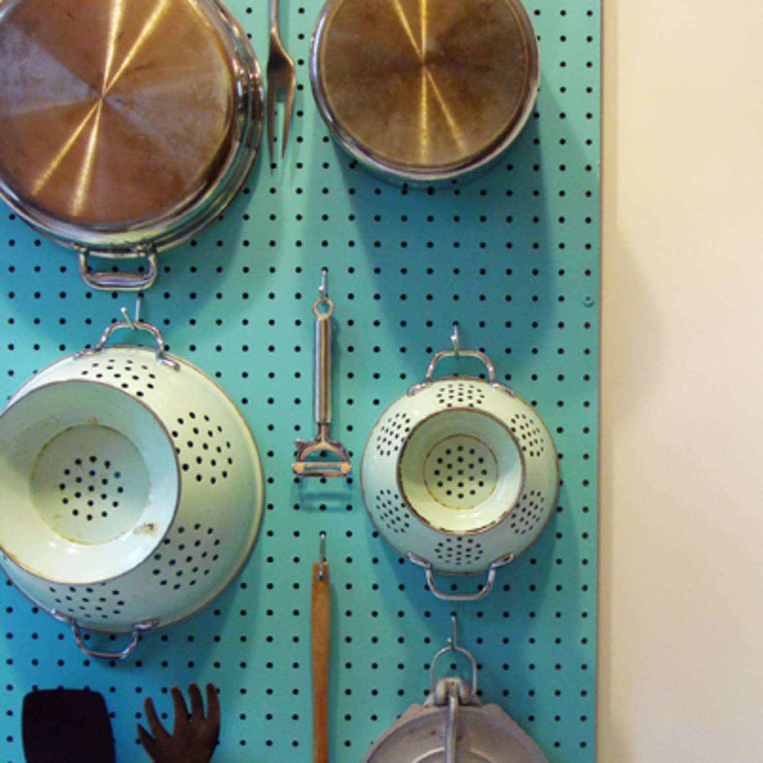 How To Make A Pegboard Wall Organizer Apartment Therapy