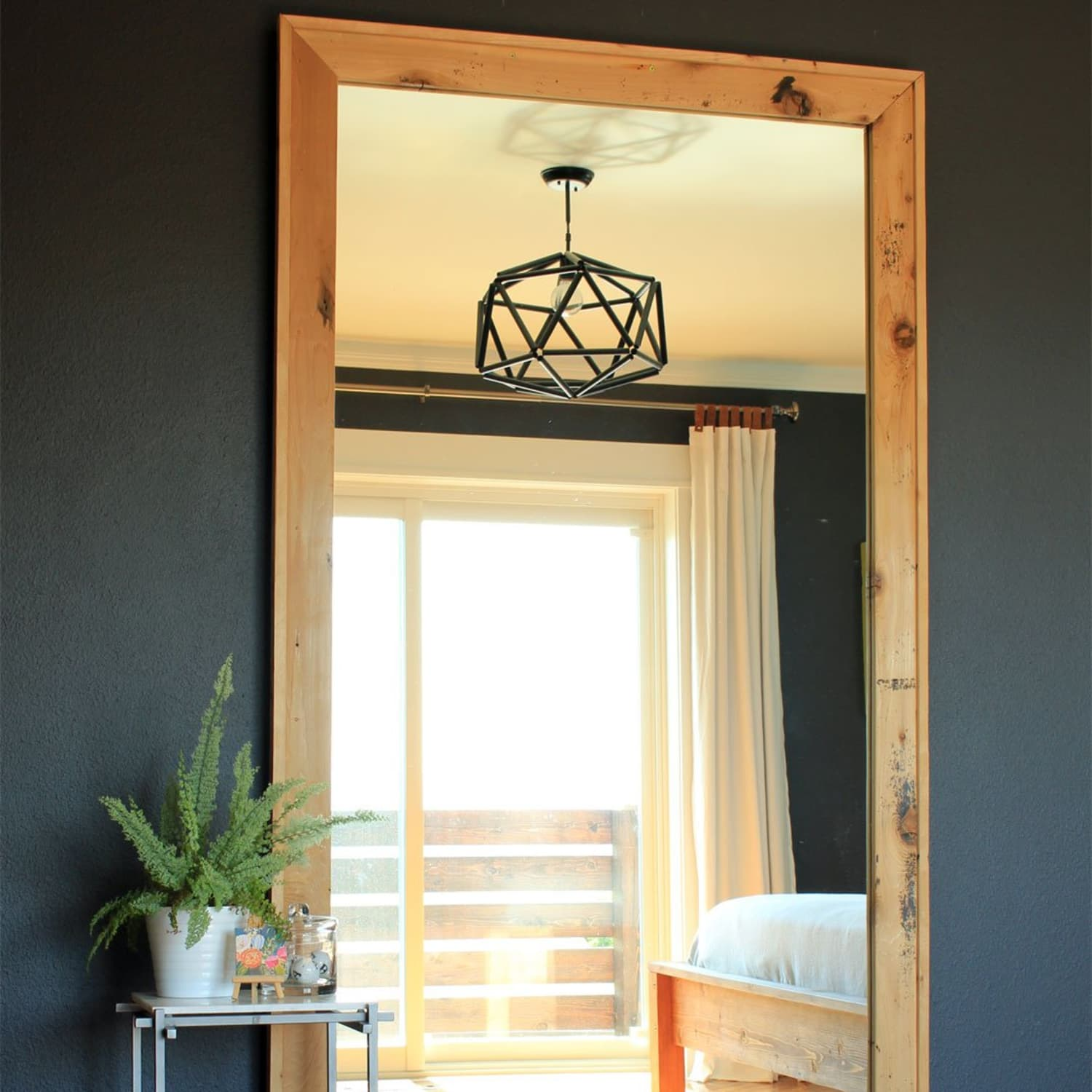 Diy Leaning Framed Floor Mirror Apartment Therapy