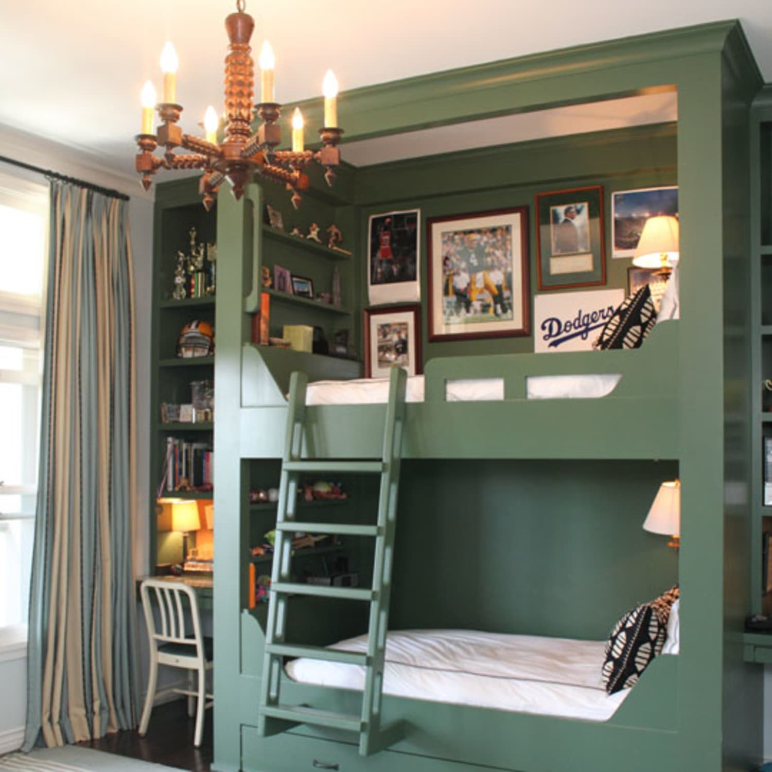 8 Bunk Bed Shelf Ideas For Top Bunk Storage Space Apartment Therapy