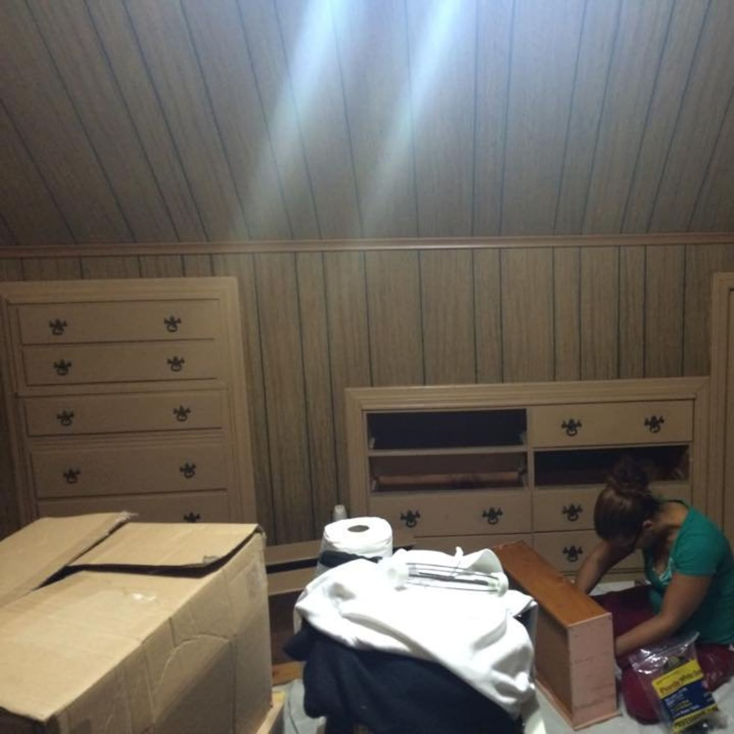 The Faux Wood Paneling Nightmare Ends Makeover Apartment Therapy