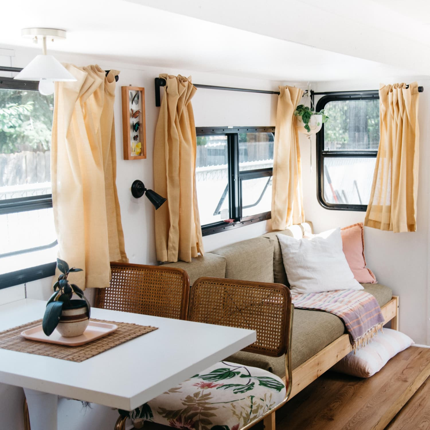 Tour A Tiny Home Rv Remodeled Fifth Wheel Trailer Apartment Therapy