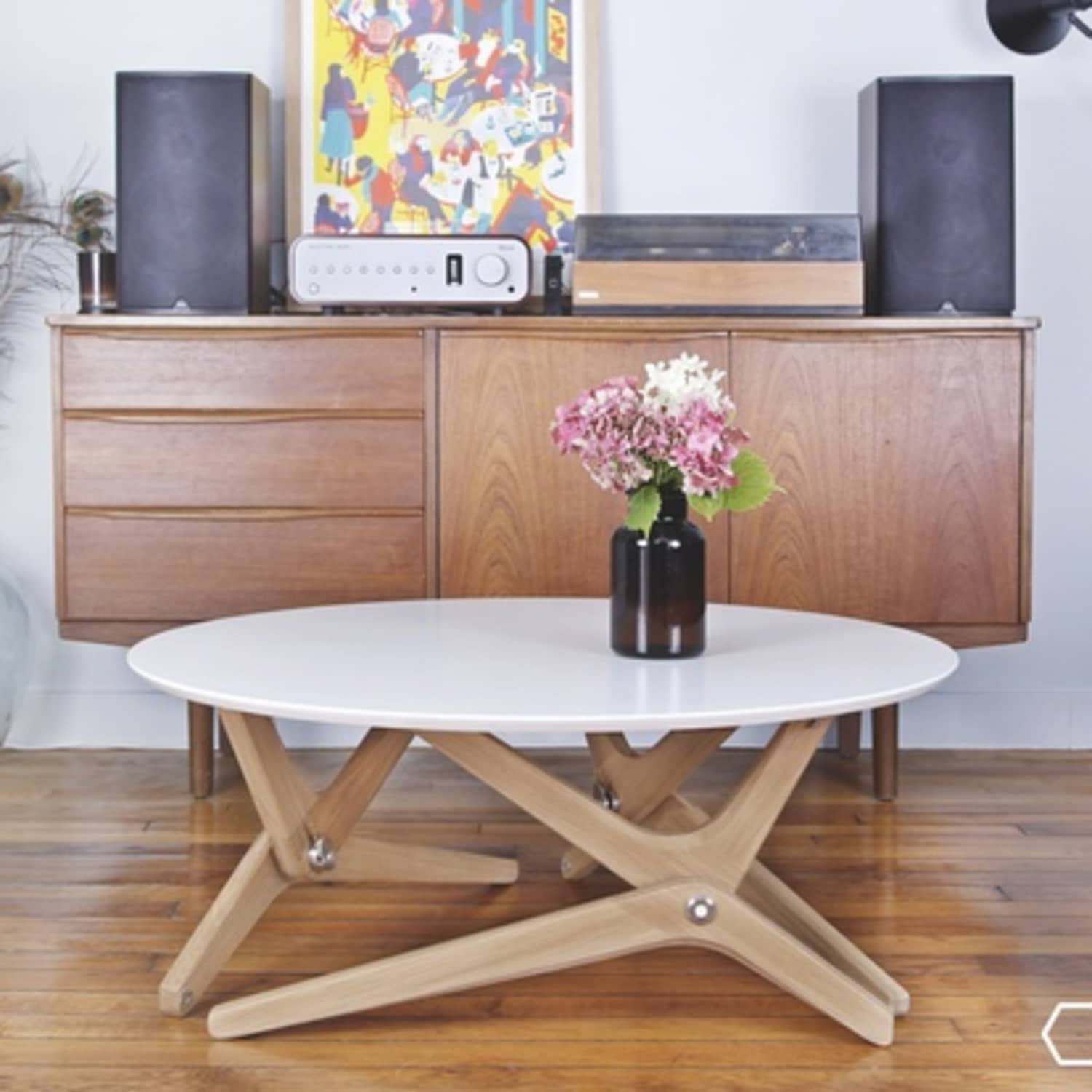 Watch This Coffee Table Convert To A Dining In One Move Apartment Therapy