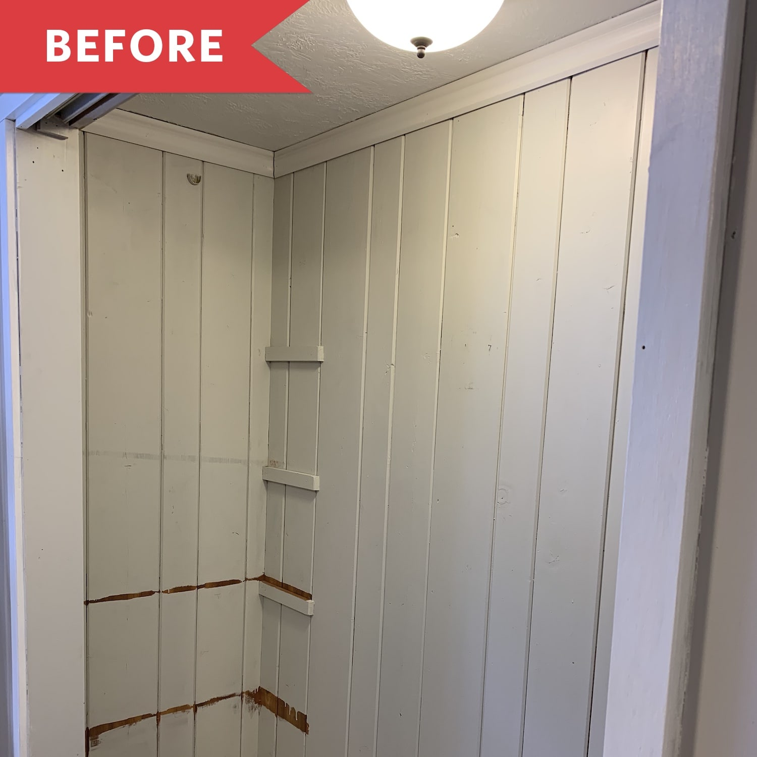 Before and After: An Unused Closet Becomes a Cozy Reading Nook for