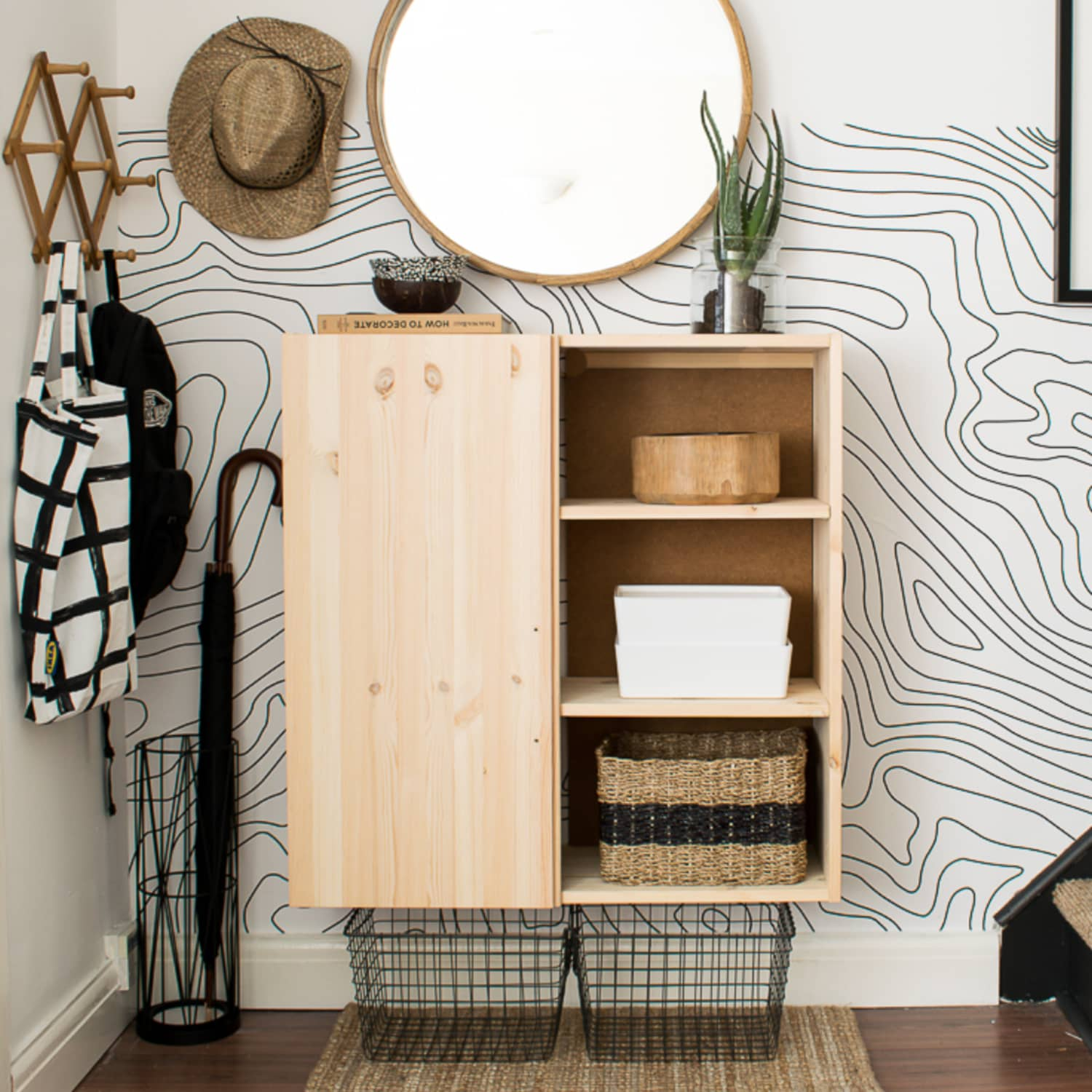 Storage Ideas For Small Entries Smart Organization For Small Entryways Apartment Therapy,Colors That Go With Black And White Polka Dots