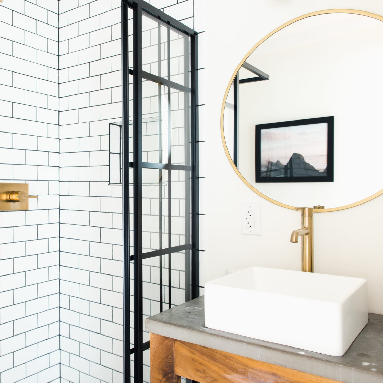 Bathroom Shower Doors Black Steel Frame Enclosures Apartment Therapy,Ikea Closet Organizer Hanging
