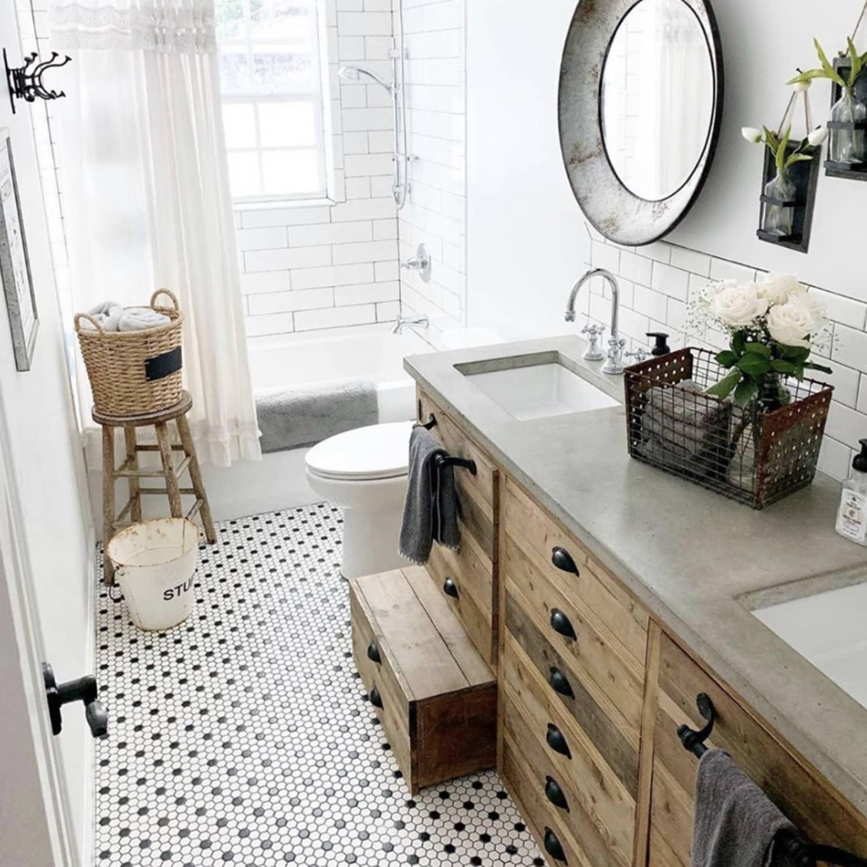 The Best Farmhouse Bathroom Decor - Farmhouse Bathroom Decor Ideas