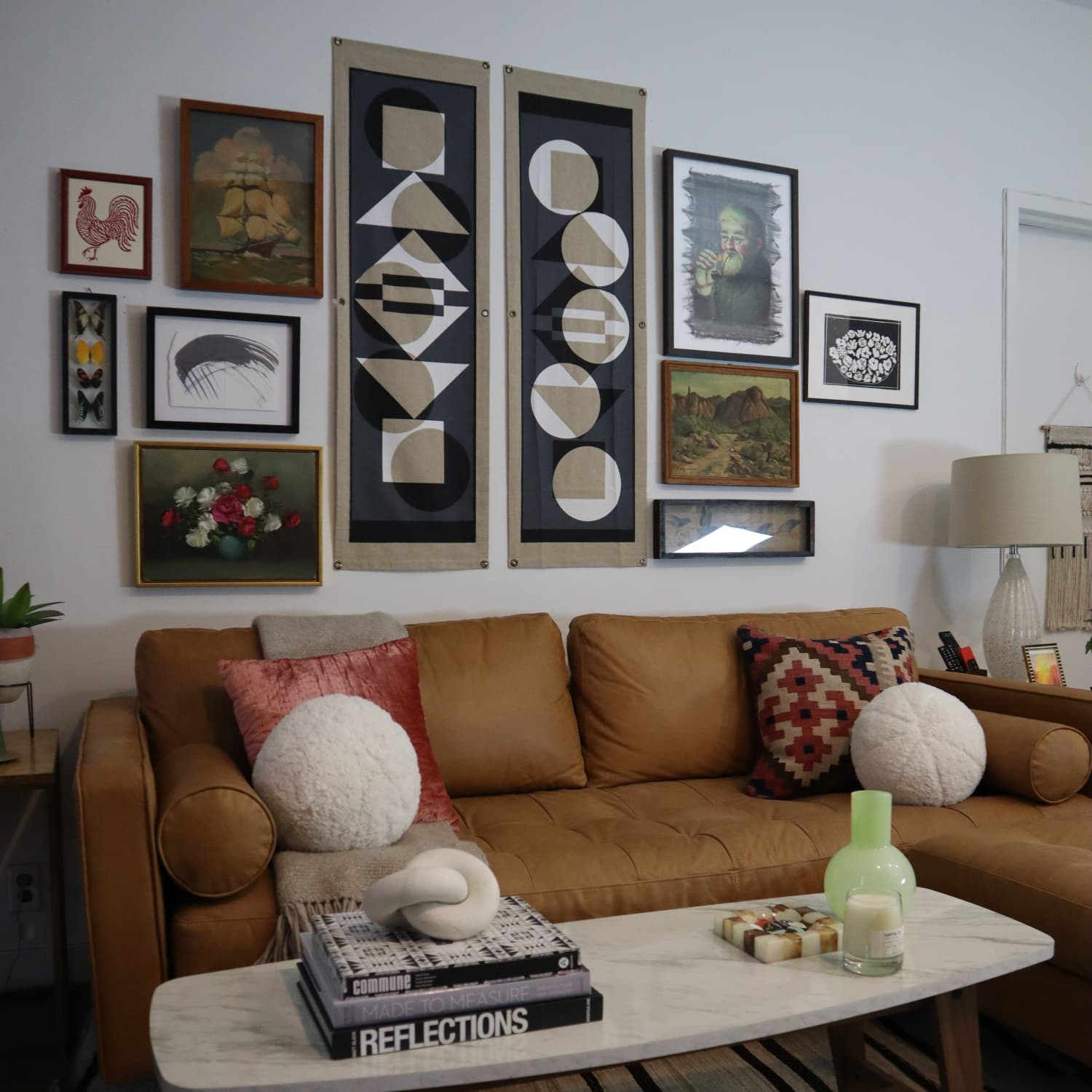 The Best Way To Fake A Luxe Living Room Sectional With A Sofa And An Ottoman Apartment Therapy