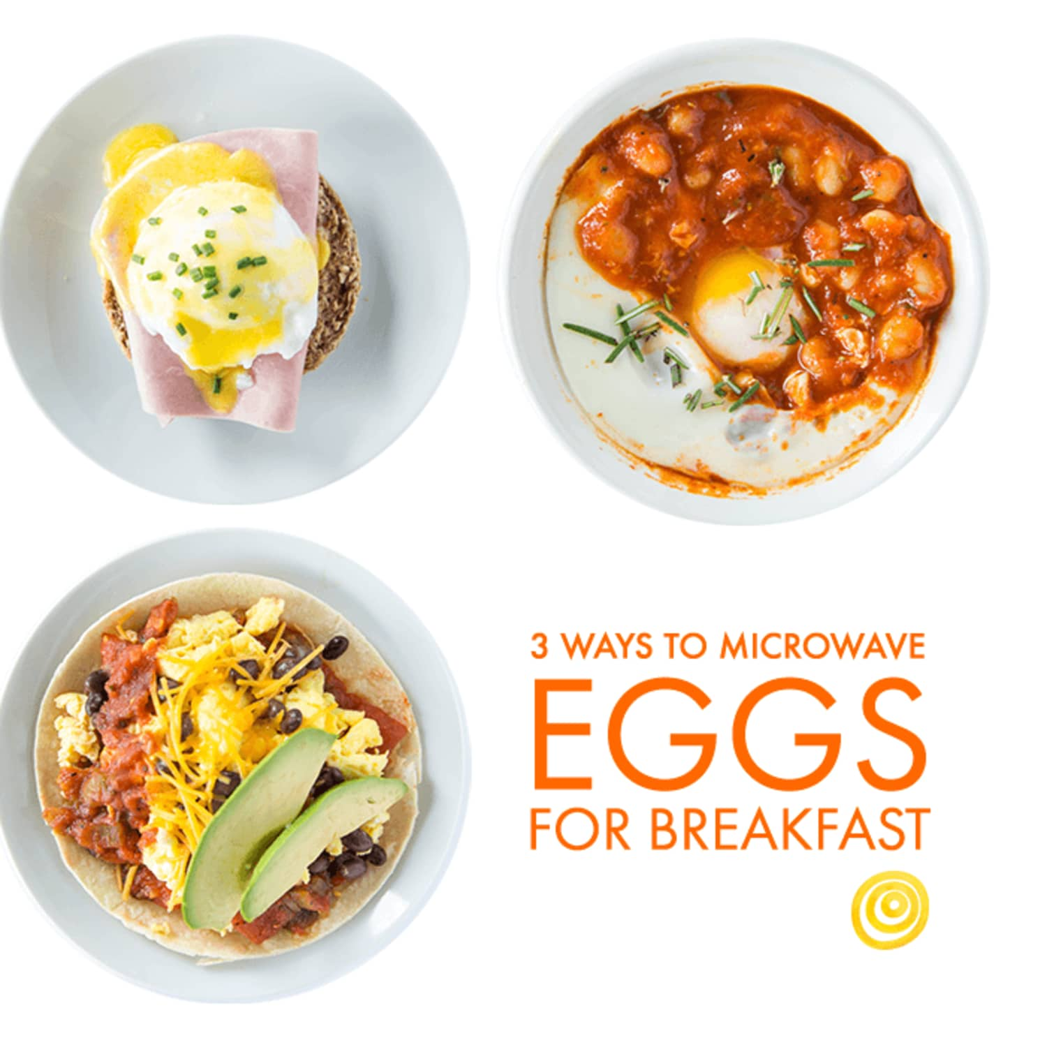 3 ways to microwave eggs for breakfast