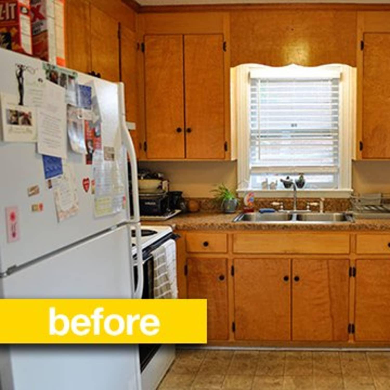 Kitchen Before After A Super Budget Makeover For 500 Kitchn