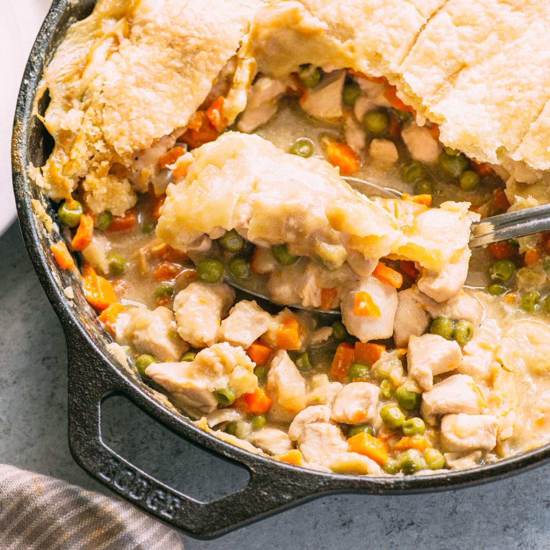 Recipe Easy Skillet Chicken Pot Pie Kitchn