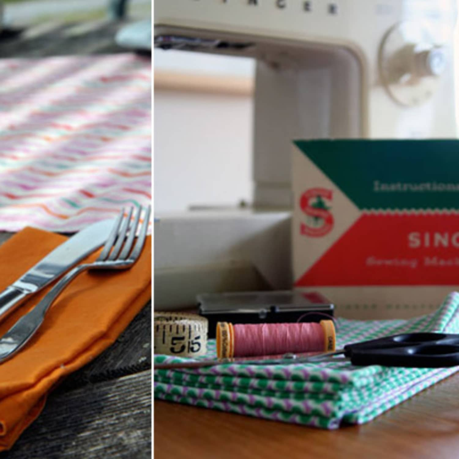 How To Sew Napkins And A Table Runner Kitchn