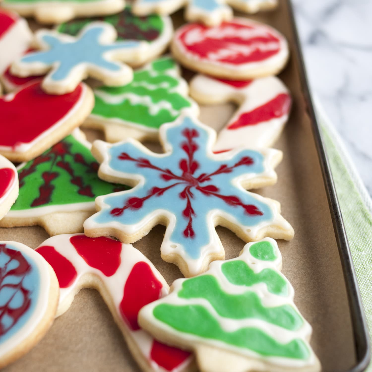 How To Decorate Cookies With 2 Ingredient Easy Icing Kitchn