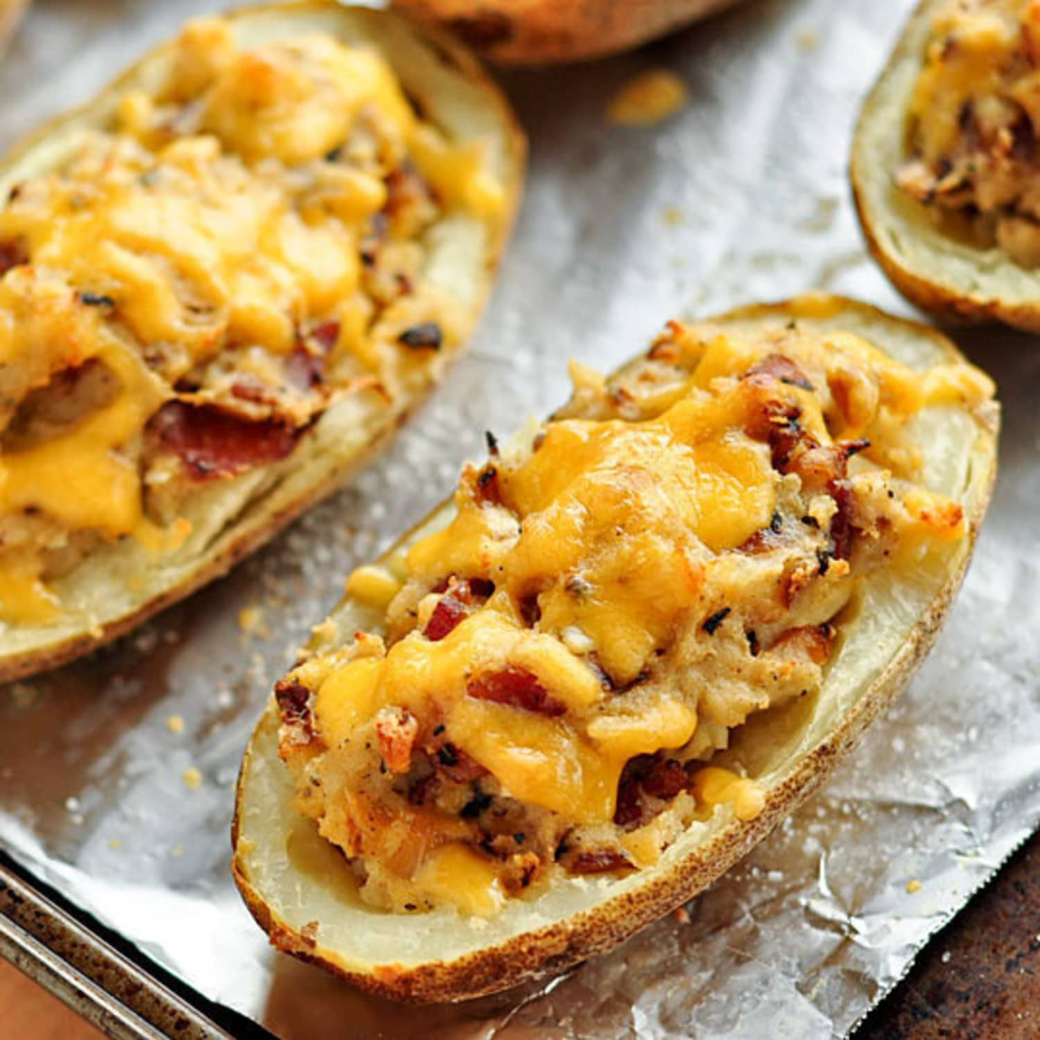 Recipe Bacon Cheddar Twice Baked Potatoes Kitchn