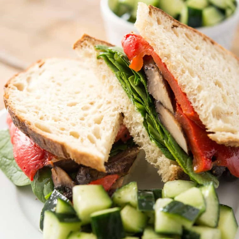 Recipe Vegan Sourdough Portobello Mushroom Sandwich Kitchn