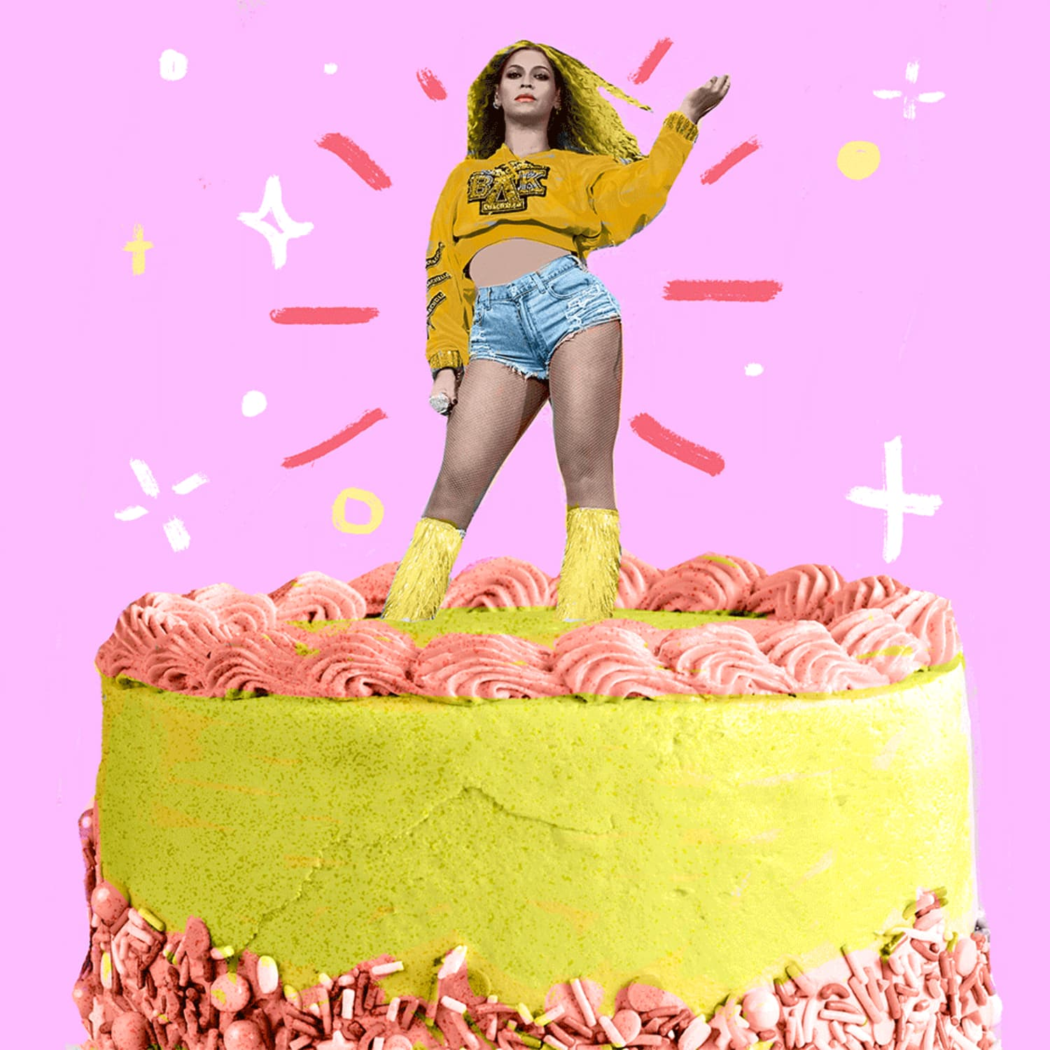 Surprising I Made The Beyonce Themed From How To Cake It Review Kitchn Personalised Birthday Cards Veneteletsinfo