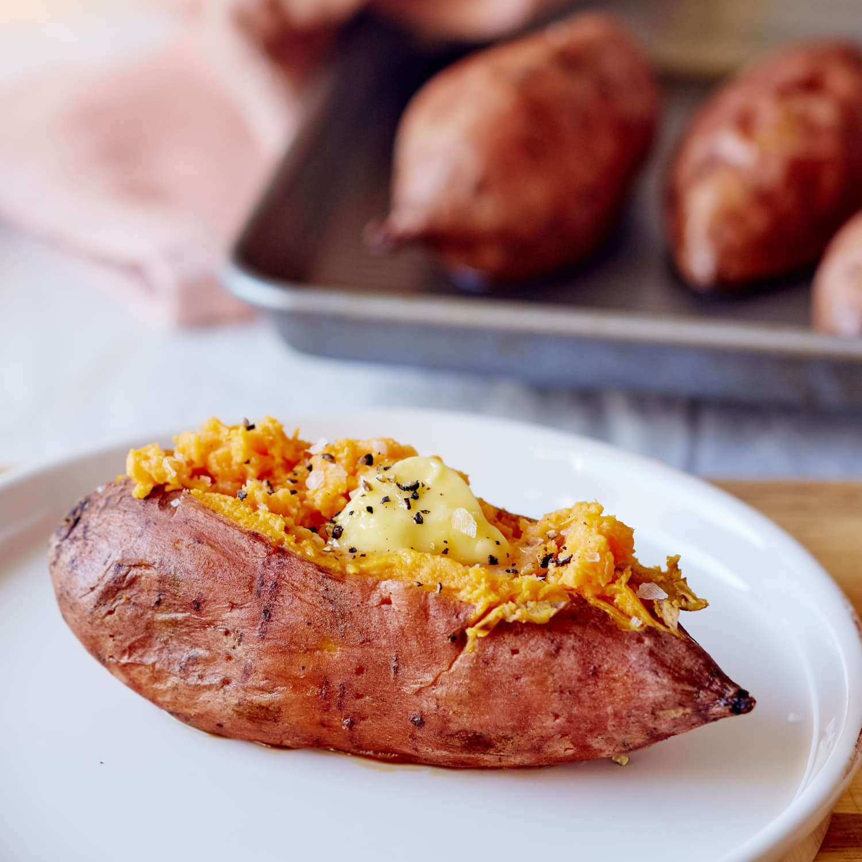 Easy Baked Sweet Potato Recipe Kitchn
