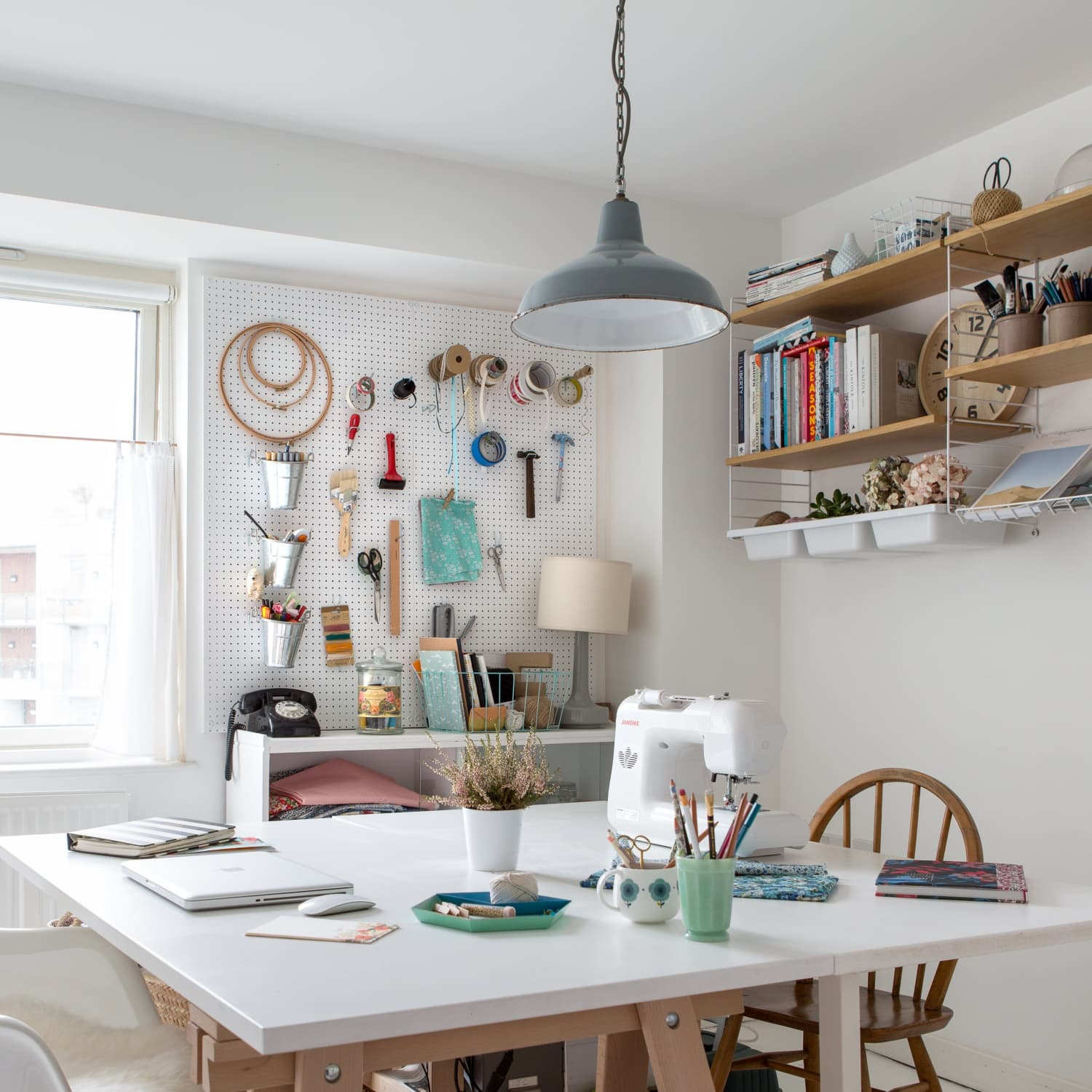 Pegboard Ideas For Kitchens Craft Rooms And More Apartment Therapy