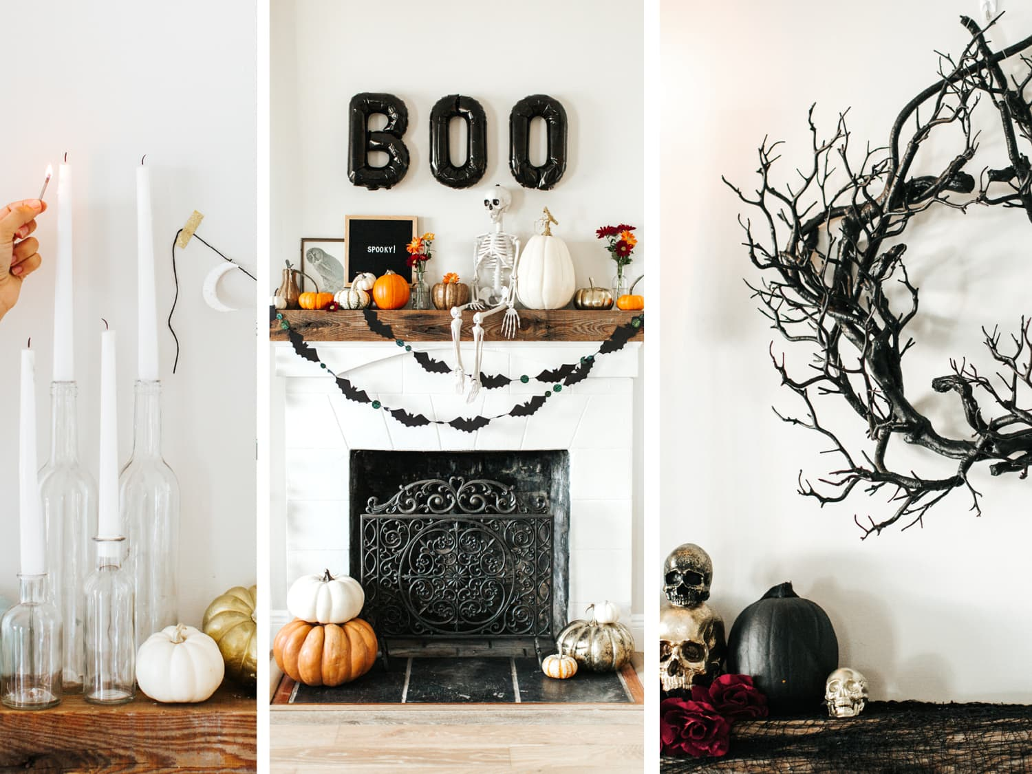 Halloween Decorating Ideas for the Mantel