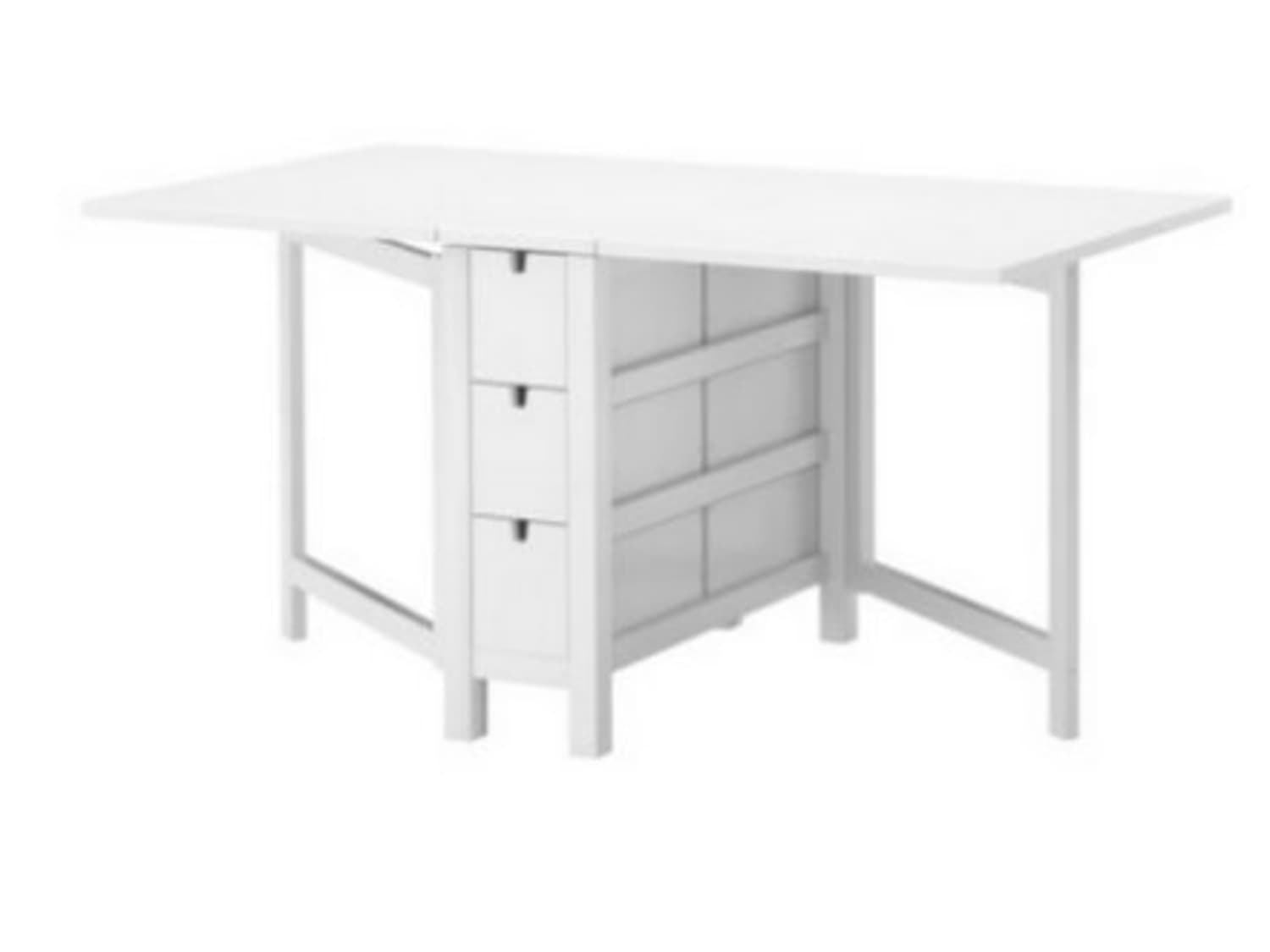 Before After Ikea Norden Table To Portable Dressmaking Station Apartment Therapy