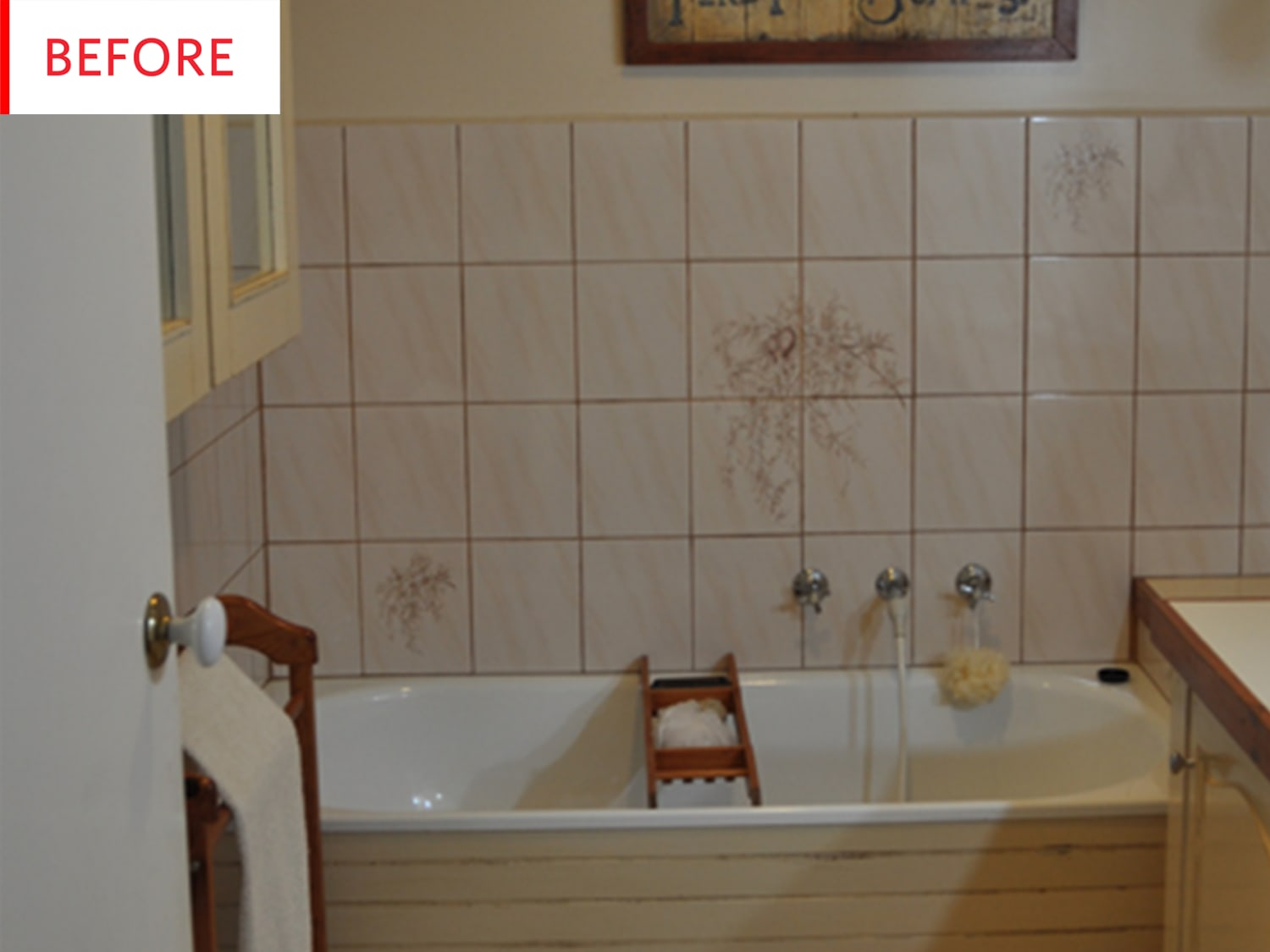 Diy Bathroom Remodel Tile Paint Before After Apartment Therapy