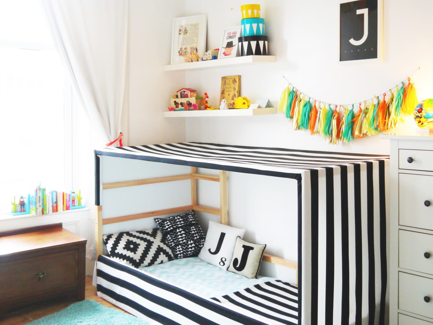 Ideas For Hacking Tweaking Customizing The Ikea Kura Bed Apartment Therapy