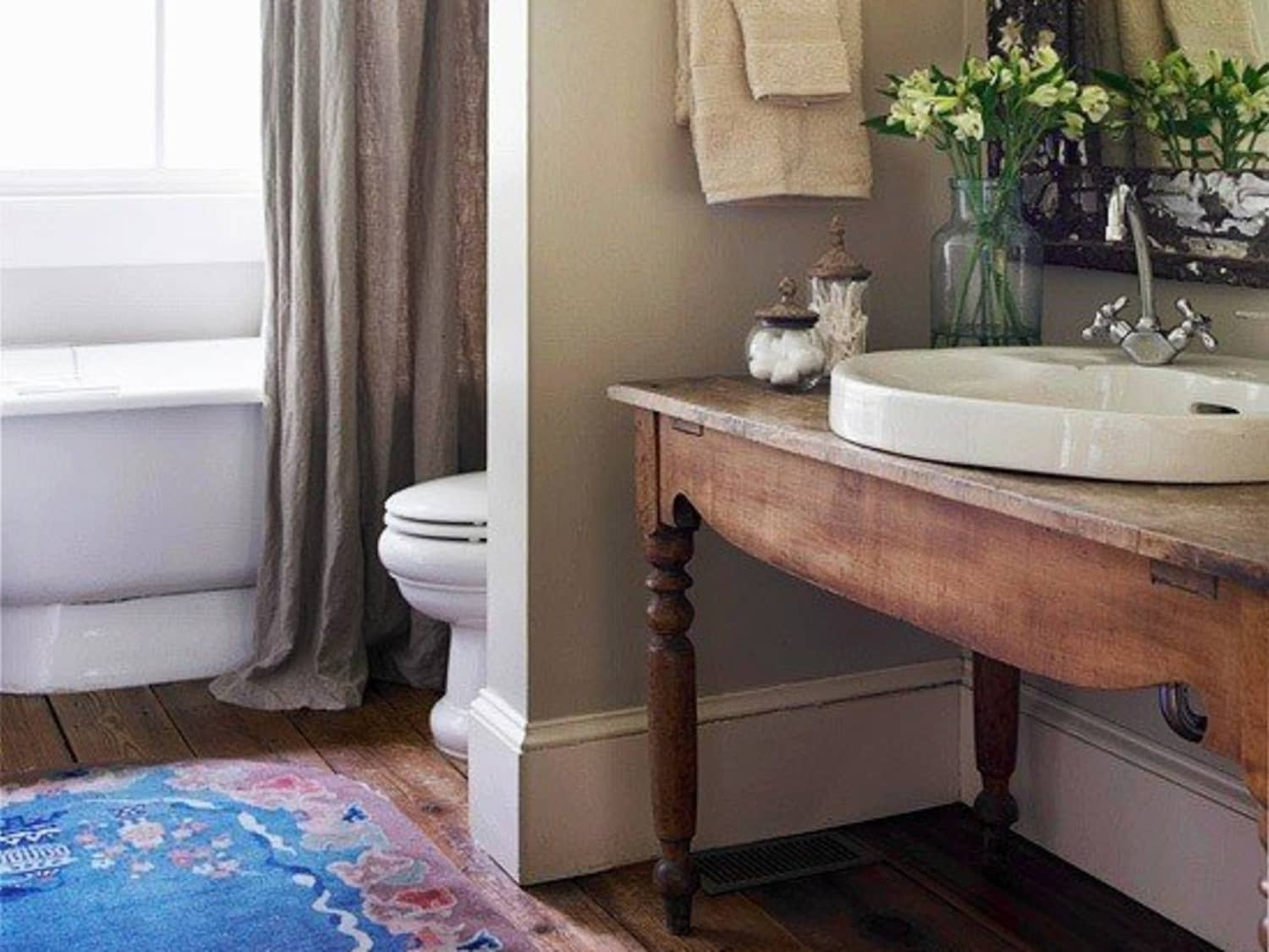 Renovation Inspiration Using Vintage Furniture As Bathroom Sink Cabinets Consoles Apartment Therapy