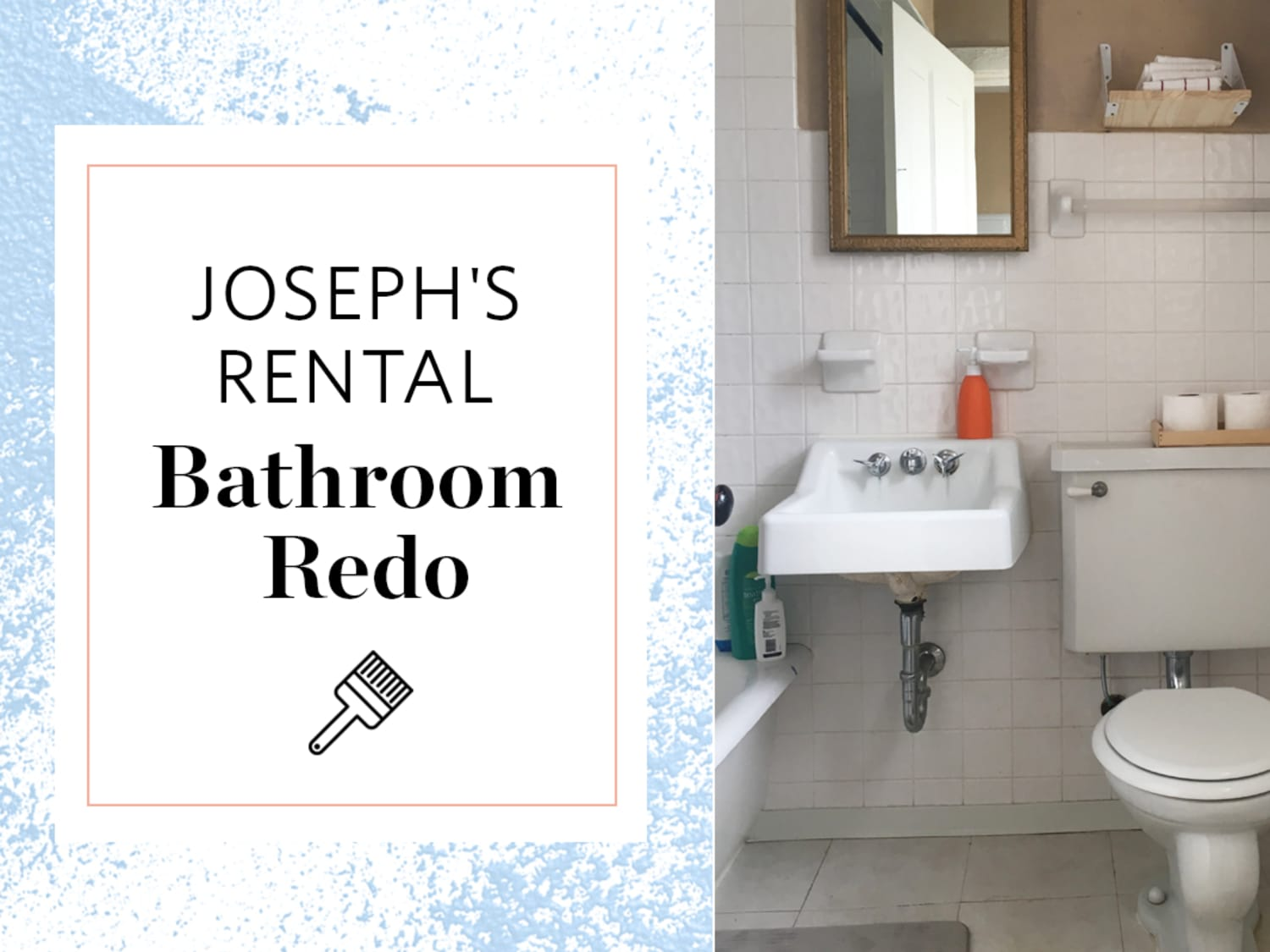 A Reversible Rental Bathroom Makeover Under 500 Apartment Therapy