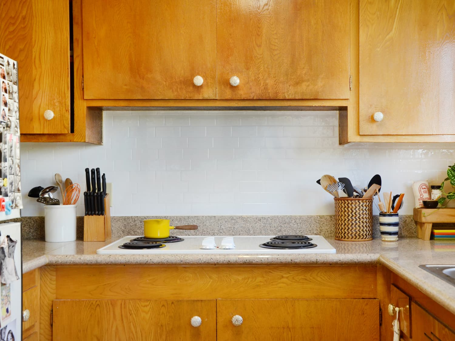 Adhesive Smart Tiles Backsplash Review How Renter Friendly Is It Apartment Therapy
